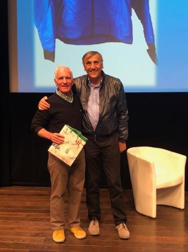 William avec le président de l'association des Amis du Musée Olympique; Georges-André Carrel