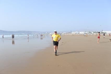 Entraînement sur la plage à Agadir (Maroc)